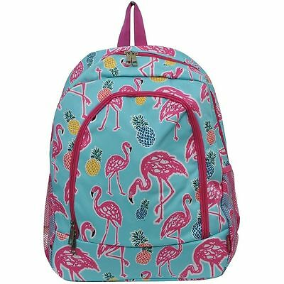 NWT  Pink Flamingo Large Bookbag, Purse Tote Diaper Carry on Bag Free Shipping