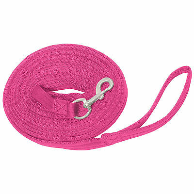 Longe Griffy, Lungeing line extra soft and grippy ca. 8 m long - pink