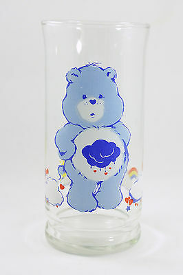1983 Grumpy Bear Care Bears Pizza Hut Collector Glass - Excellent Condition