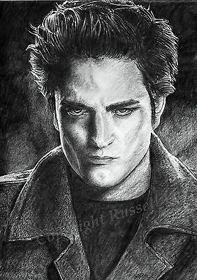 TWILIGHT robert pattinson Edward Cullen A4 A3 or A2 print of drawing Russellart