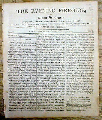 2 1805 newspapers wLOCAL Coverage of YELLOW FEVER EPIDEMIC in PHILADELPHIA PA