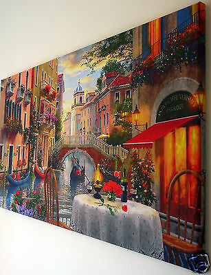 """Venice Canvas Wall Art  Picture Large 18"""" X 32""""  Ready To Hang"""