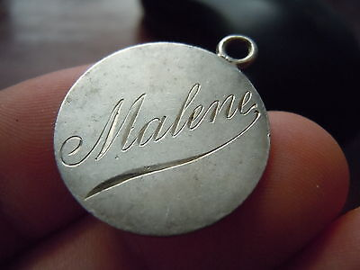 Dual Engraved Names On A Quarter Sized Likely European Coin Love Token