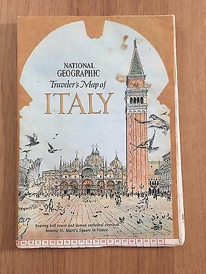 National Geographic Traveler's Map of Italy June 1970
