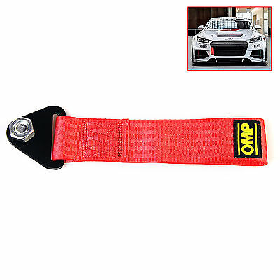 NEW Red High Strength Racing Tow Towing Strap Hook Front Rear Bumper Truck Car