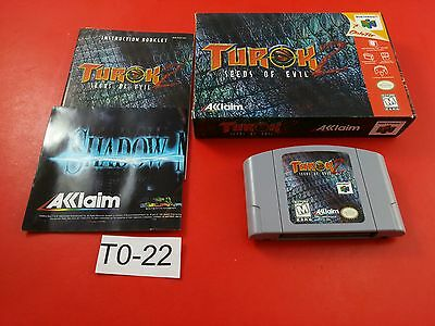 Turok 2 Seeds of Evil [CIB Complete in Box] (Nintendo 64 N64) Tested & Working