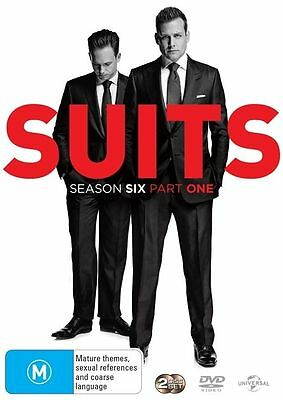 Suits: Season 6: Part 1 (DVD, 2016, 2-Disc Set), NEW SEALED REGION 4