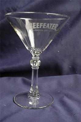 BEEFEATER London Gin Martini Cocktail Glass With Roman Column Stem Design