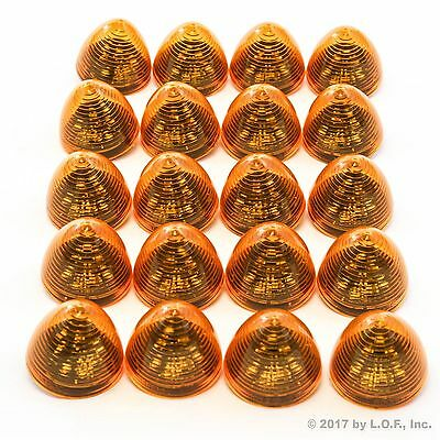 """20 New 2"""" Amber LED Beehive Side Clearance Marker Lights Trailer Auto Bright"""
