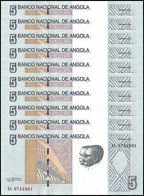 Angola 5 Kwanzas X 10 Pieces (PCS), (2012) 2017, P-NEW, UNC