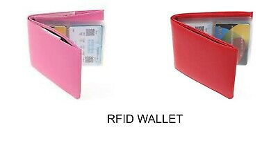 NEW - RFID Wallet, As Seen On The TV - Amazing Slim RFID Wallets Black Leather