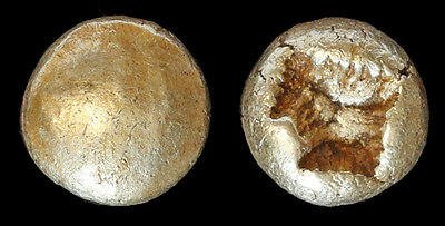 Man's Earliest Coin! Electrum 1/12th El Stater 650 - 600 B.C. Rare Greek Gold!