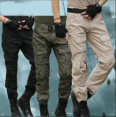 7440 New Men's Military Tactical Trousers Hiking Hunting Combat pants Knee Pads