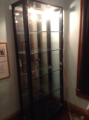 Henredon Glass Illuminated Display Cabinet