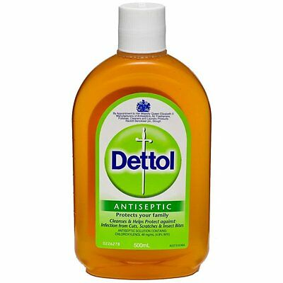 500ml/16.90Oz Dettol Antiseptic Liquid Soap FirstAid Cleaner Disinfectant Tattoo