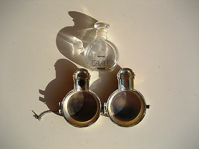 Faberge Cavale Vintage Rare Perfume Metal Case and Bottle