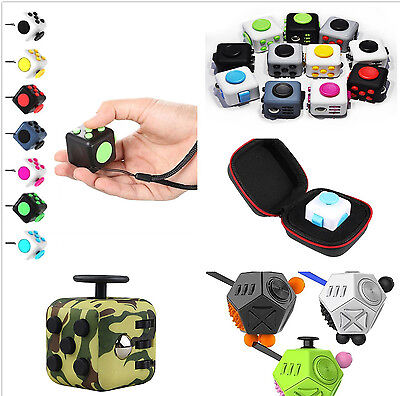 12 -side Magic Fidget Cube Anxiety Stress Relief Focus Carry For Adults Child