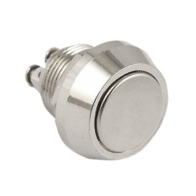 12mm DC 36V 2A NO Metal Momentary Push Button Switch 2 Screw Terminals