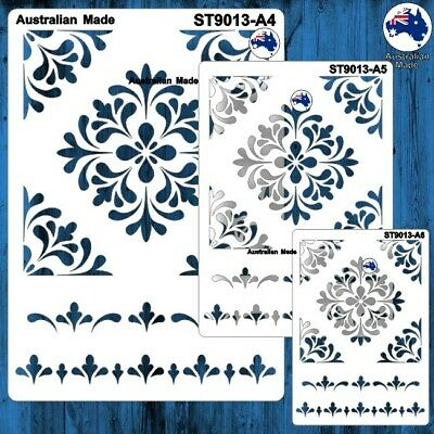 Stencils, Masks for Scrapooking, Cardmaking - ST9013 Tile Pattern, A4, A5, A6