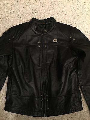 Harley Davidson Ladies Leather Jacket Size Small No Signs Of Being Worn