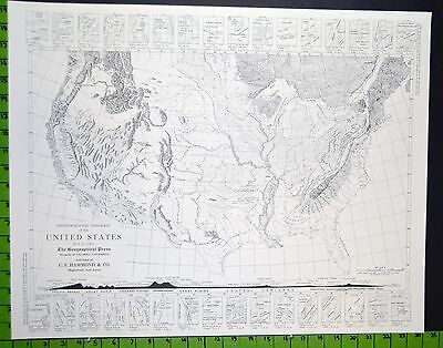 Map of the United States of America 1950's School Map 20x25 Inches