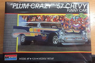 "Monogram 1957 Chevy Funny Car ""Plum Crazy"" 1/24 SEALED #2790"
