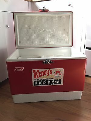 Vintage Coleman Cooler!  Wendy's Old Fashioned Hamburgers Special!  Rare! W Tray