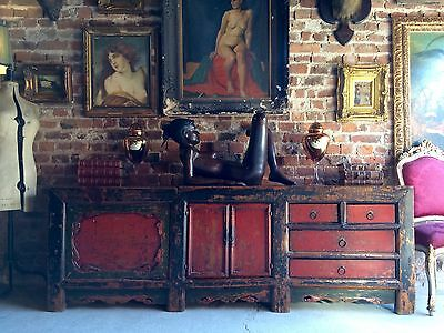 Stunning Antique Chinese Sideboard Credenza Grain Store Kang 18th Century 1780