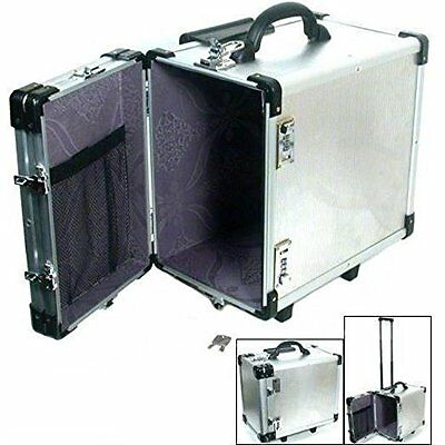 Aluminum Carrying Case Rolling Box Jewelry Display