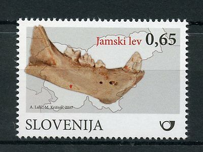 Slovenia 2017 MNH Fossil Mammals Cave Lion 1v Set Fossils Lions Stamps