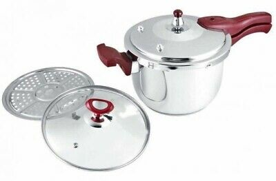 Dessini 7 Liter Pressure Cooker 18/8 Stainless Steel Brown Colour.