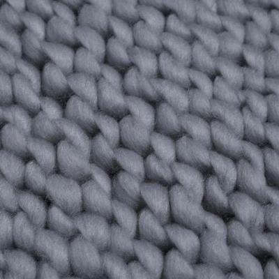 New NEWBORN BABY 3cm Thick GREY WOVEN KNIT BACKDROP RUG MAT Photography Prop