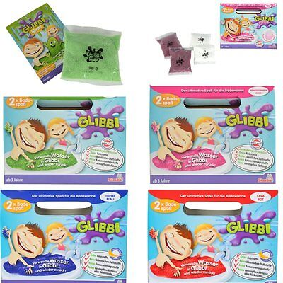 glibbi Slime 2 Pieces Glitter with Scent in Pink 2 Red + Pink+Blue+ Green 4 St