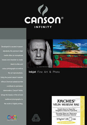 """Canson - Arches Velin Museum Rag - 315 g/qm - Rolle (24"""") 0,61 x 15,24m"""