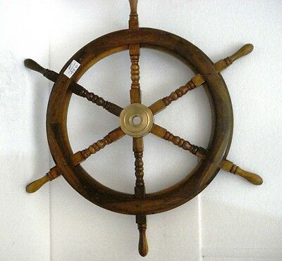 Vintage Style ship's STEERING - HELM - Wooden & Brass - LARGE (1280)