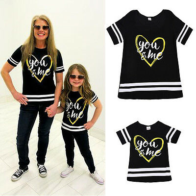You&Me Matching Tshirt Mother Daughter Parent Child Gift Family Matching Clothes