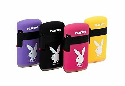 1 x Playboy Double Blue Flame Blow Torch Refillable Butane Lighter 7 x 4cm