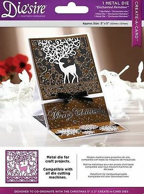 "Diesire 5"" x 5"" Create a Card - 'Enchanted Reindeer' Die"