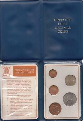 Britain's First Decimal Coin Set In Wallet   Special Gift Birthday