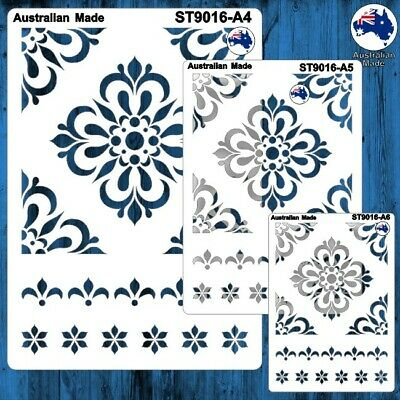 Stencils, Masks for Scrapooking, Cardmaking - ST9016 Tile Pattern, A4, A5, A6