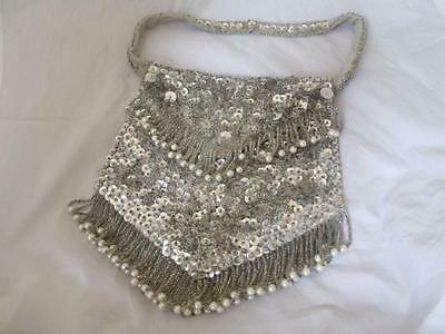 Handmade Bead and Sequin Bag by Le Soir Vintage c.1950's. PML01558