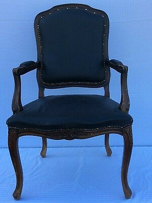 18th C. 1760's Louis XVI Rococo Cabochan Neoclassical chair hand carved.