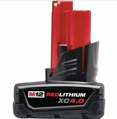 Milwaukee M12B4 M12 12V 4.0 Ah Red Lithium Genuine Battery  48-11-2440