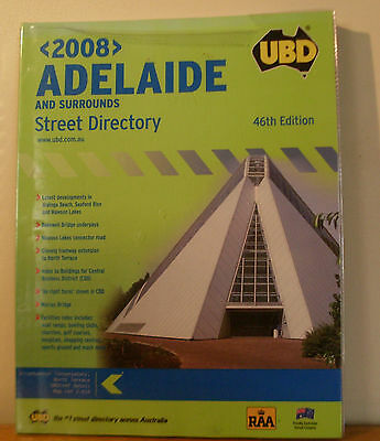 UBD Adelaide & Surrounds Street Directory 46th Edition 2008.  Excellent.