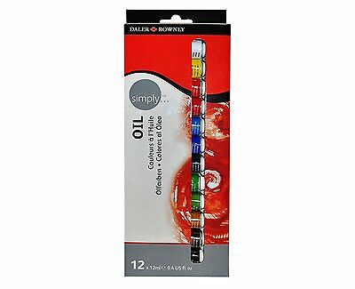 Daler Rowney Simply Oil Paint 12x12ml Tube Set