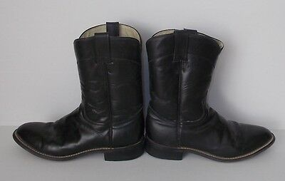 Justin Ladies/Junior Boots-Ropers-Black-Size Marked 5 B-Very Good Condition