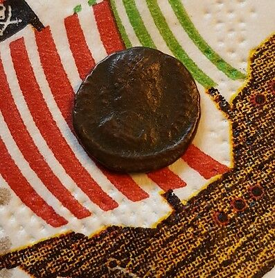 27BC-476AD Ancient Greek Roman Full FACE! VERY EXPENSIVE VALUED RARE TOKEN COIN