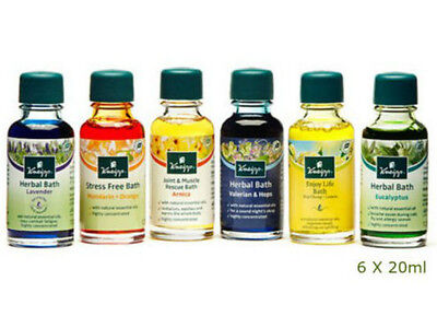 Oil Bath Body Collection Aromatherapy Shower New Herbal Kneipp Set Gift 6x20ml