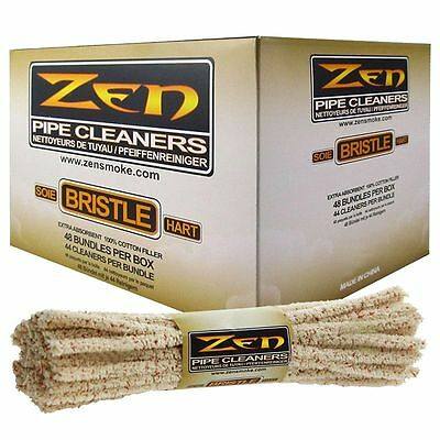 10x Bundles ( Zen Hard Bristle Pipe Cleaners ) Absorbent Bristle 44x Per Bundle