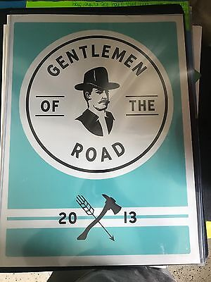 Gentlemen of the Road tour Mumford and Sons concert poster 2013 St. Augustine